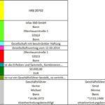 Tabellarische Darstellung einer Kategorisierung im Zuge von Text Mining