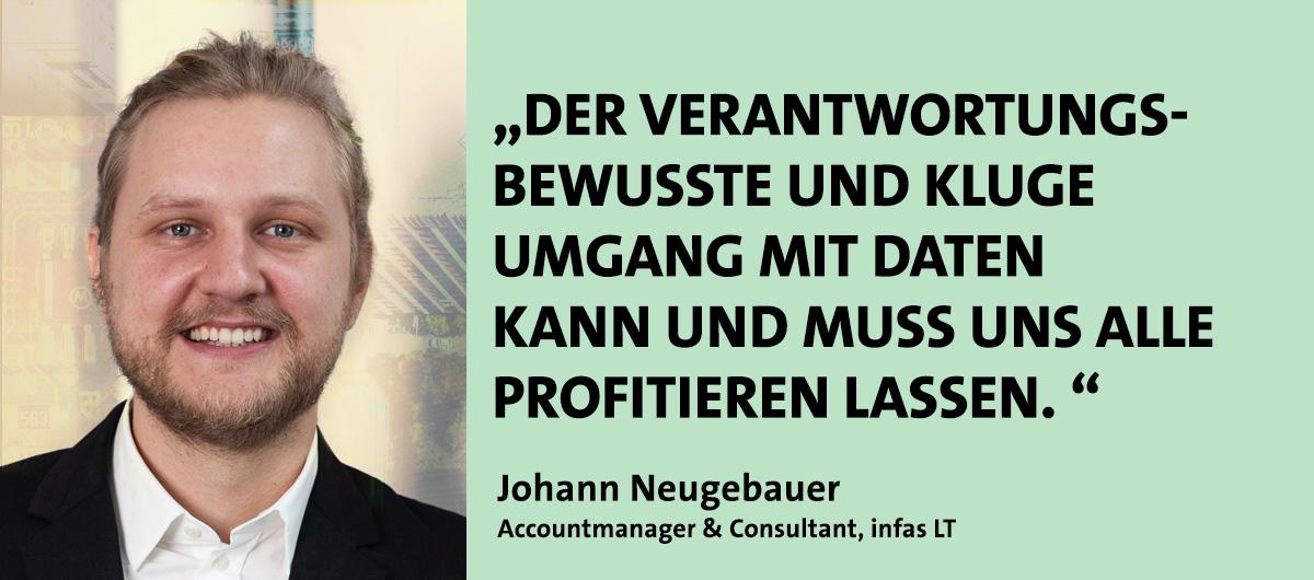 Johann Neugebauer, Referent bei den Kompetenztagen Geomarketing 2021